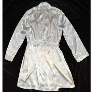Apt. 9 Intimates Satin Touch of Blue Bridal Robe